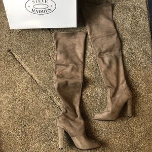 Thigh high Steve Madden boots
